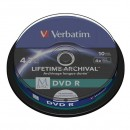 Verbatim DVD-R, M-Disc, 10-pack, 4.7GB, 4x, 12cm, General, Standard, cake box