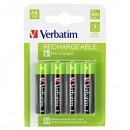 Baterie Ni-MH, AA nabíjecí R06, 1.2V, 2500 mAh, Verbatim, blistr, 4-pack, cena za 1 ks
