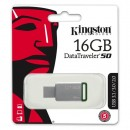 Kingston USB flash disk, 3.0, 16GB, DataTraveler DT50, zelený, DT50/16GB