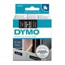 Dymo originální páska do tiskárny štítků, Dymo, 45021, S0720610, bílý tisk/černý podklad, 7m, 12mm, D1