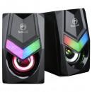Marvo reproduktory SG-118, 2.0, 6W, černé, regulace hlasitosti, herní, 150Hz-20kHz, RGB podsvícení
