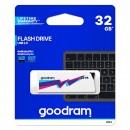 Goodram USB flash disk, 2.0, 32GB, UCL2, bílý, UCL2-0320W0R11, podpora OS Win 7
