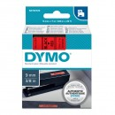 Dymo originální páska do tiskárny štítků, Dymo, 40917, S0720720, černý tisk/červený podklad, 7m, 9mm, D1
