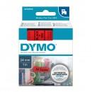 Dymo originální páska do tiskárny štítků, Dymo, 53717, S0720970, černý tisk/červený podklad, 7m, 24mm, D1