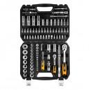 Sada nástrčných klíčů, 08-665, ráčny, nástrčné hlavice, šroubovací bity, z chrom-vanadiové oceli, Neo Tools