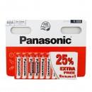 Baterie zinkouhlíková, AAA, 1.5V, Panasonic, blistr, 10-pack, cena za 1 ks baterie