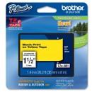 Brother originální páska do tiskárny štítků, Brother, TZE-661, černý tisk/žlutý podklad, laminovaná, 8m, 36mm
