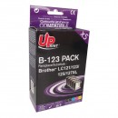 UPrint kompatibilní ink s LC-123, 2xblack/1xcyan/1xmagenta/1xyellow, B-123-PACK, pro Brother MFC-J4510 DW
