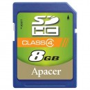 Apacer paměťová karta Secure Digital, 8GB, SDHC, AP8GSDHC4-R, Class 4