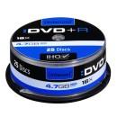 Intenso DVD+R, 4111154, 25-pack, 4.7GB, 16x, 12cm, Standard, cake box, bez možnosti potisku