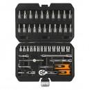 Sada nástrčných klíčů, 08-660, ráčna, nástrčné hlavice, šroubovací bity, z chrom-vanadiové oceli, Neo Tools