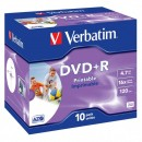 Verbatim DVD+R, 43508, DataLife PLUS, 10-pack, 4.7GB, 16x, 12cm, General, Advanced Azo+, jewel box, Wide Printable