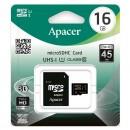 Apacer paměťová karta Secure Digital, 16GB, micro SDHC, AP16GMCSH10U1-R, UHS-I U1 (Class 10), s adaptérem