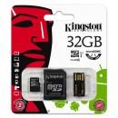 Kingston Micro SDHC Card Class 10 Gen2 - Mobility Kit, 32GB, micro SDHC, MBLY10G2/32GB, UHS-I U1 (Class 10), se čtečkou a adaptére