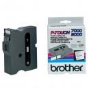 Brother originální páska do tiskárny štítků, Brother, TX-251, černý tisk/bílý podklad, laminovaná, 8m, 24mm