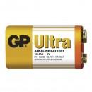 Baterie alkalická, R61, 9V, GP, fólie, 1-pack, ULTRA, cena za 1 ks baterie