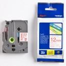 Brother originální páska do tiskárny štítků, Brother, TZE-232, červený tisk/bílý podklad, laminovaná, 8m, 12mm
